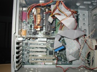 SuperMicro P3DR3 mainboard.  Very nice.