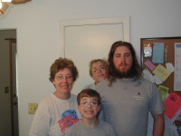 Me, my mom, Alan, and Dennis.
