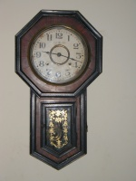 The clock.  I don't know much about it, but it's old, works great, and needs frequent winding.