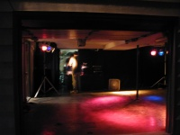 The dance garage.  Lights, sound, everything.