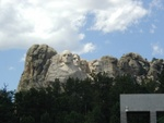 Mount Rushmore, over the trees.