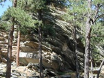 There were some neat rock formations around the park, this one included.