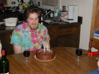 Me, at home for my 21st birthday.  I actually turned 21 at a marching band party.