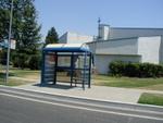 A bus stop.  Sacramento public transit seems quite nice.