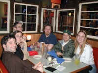 Jason, Wendy, Erik, Russ, Shannon, and Eryn at Old Chicago waiting for food.