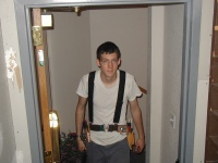 Michael Riley, while working on moving the dimmers during summer 2002