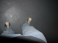 Tim's feet.
