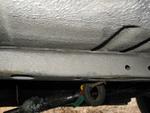 Underside of the car.  Minimal rust.
