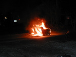 "A burning couch.  It was in an alley, I took the ""lawn"" method of finding it, so I'm not sure exactly where it was."