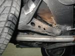 The rear suspension.