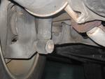 Left rear suspension.