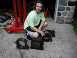 Me, by the pieces of my former engine.